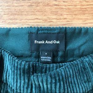 Frank and Oak green corduroy pants